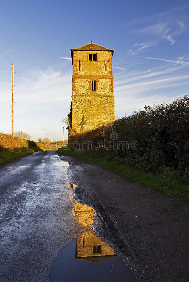 Remaining Church Tower of the demolished St Laurence Church, King's Newnham royalty free stock photography