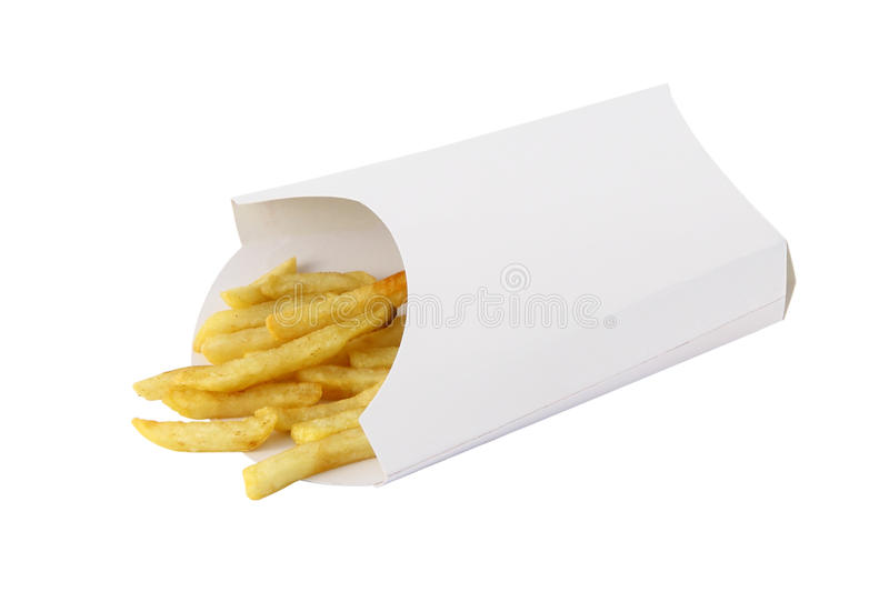 Download Remaining French Fried In Box Royalty Free Stock Photos - Image: 24798258