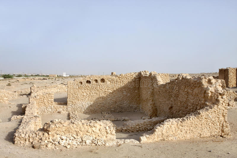 Remains of ancient rooms in Saar Village