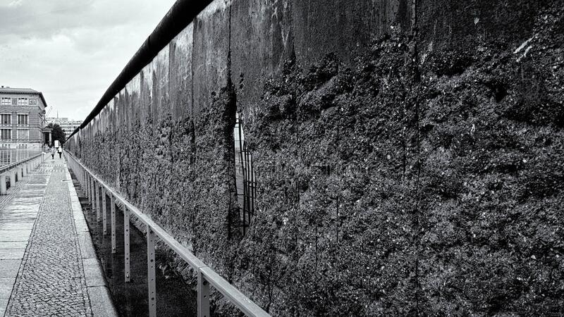 Remains of the Berlin Wall stock image