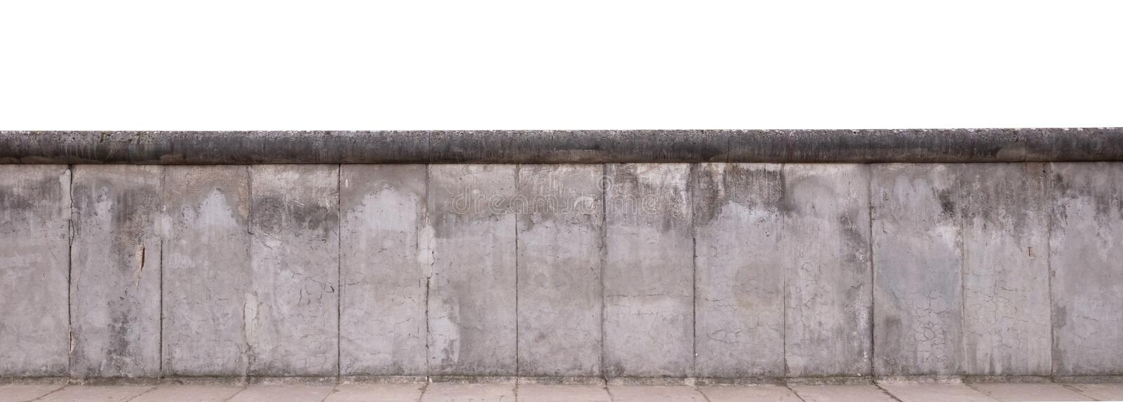 The remains of the Berlin Wall stock images