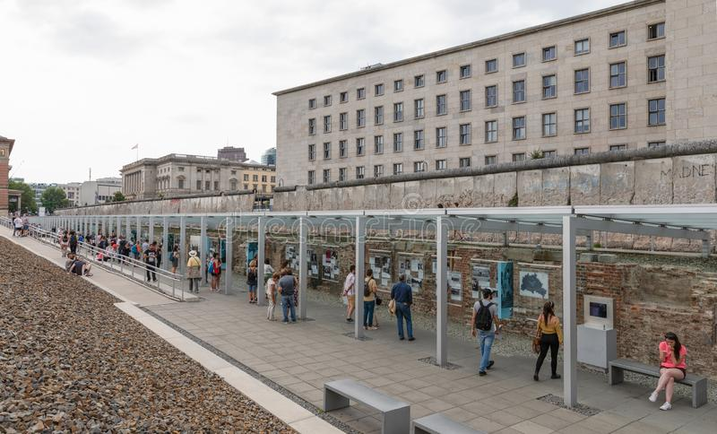 The Remains Of Berlin Wall in Berlin, Germany stock photos