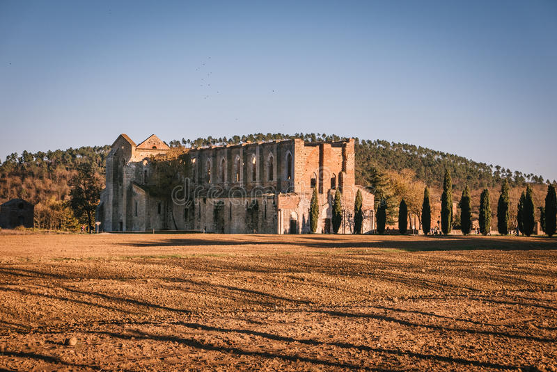 Download Remains Of The Cistercian Abbey Of San Galgano, Italy. Stock Image - Image: 83723837