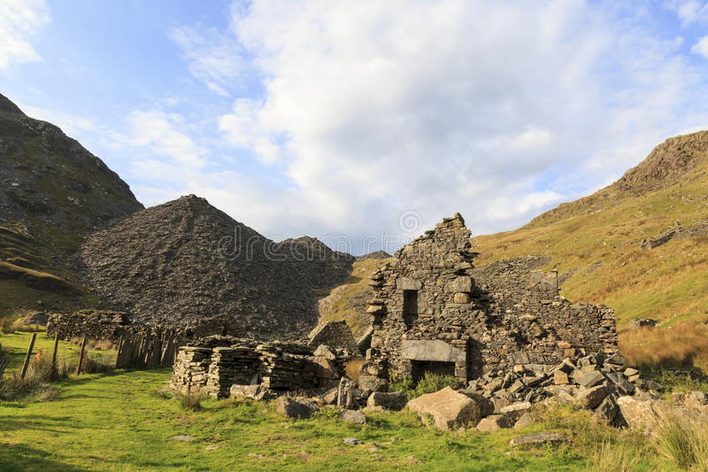 The remains of Conglog Quarry buildings stock photography