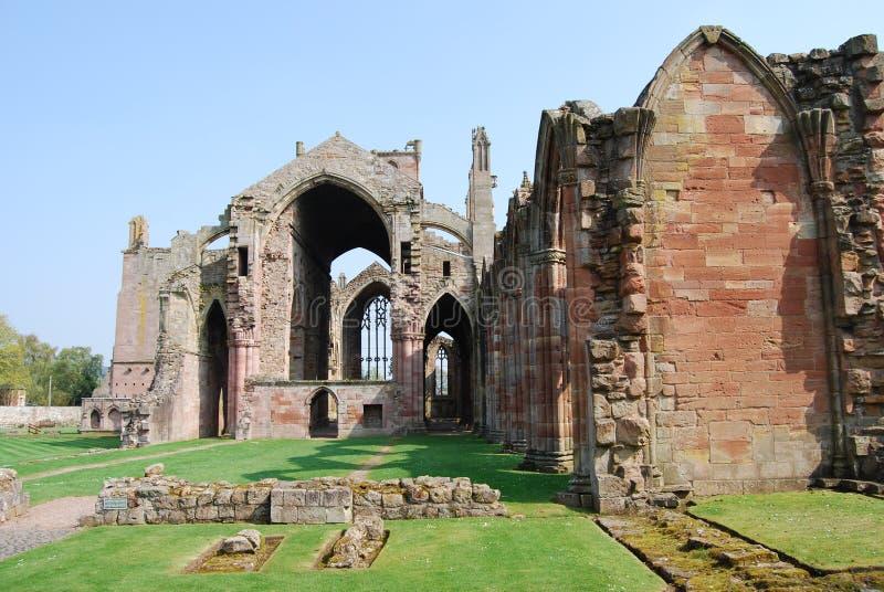 Remains da abadia da melrose imagens de stock royalty free