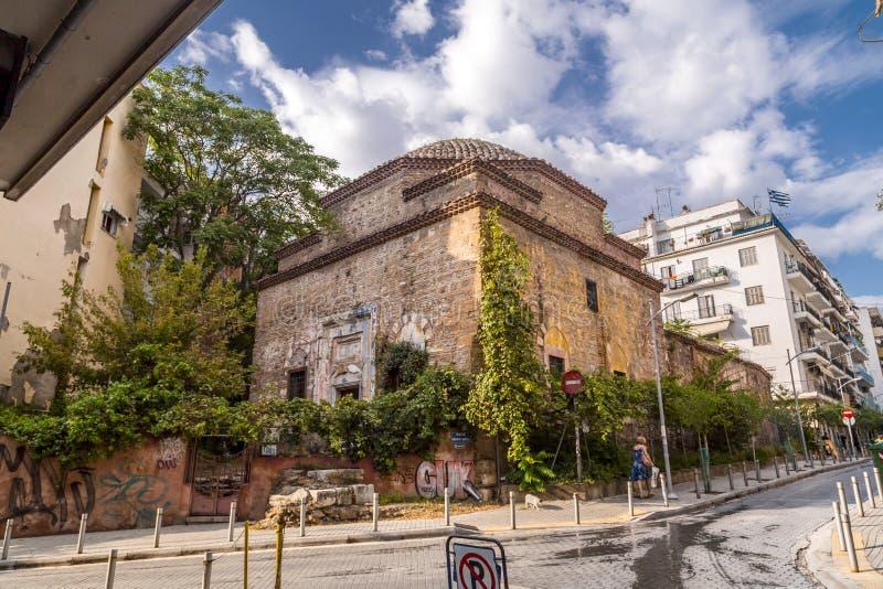 Remains des türkischen Bey Hamam in Thessaloniki stockfoto