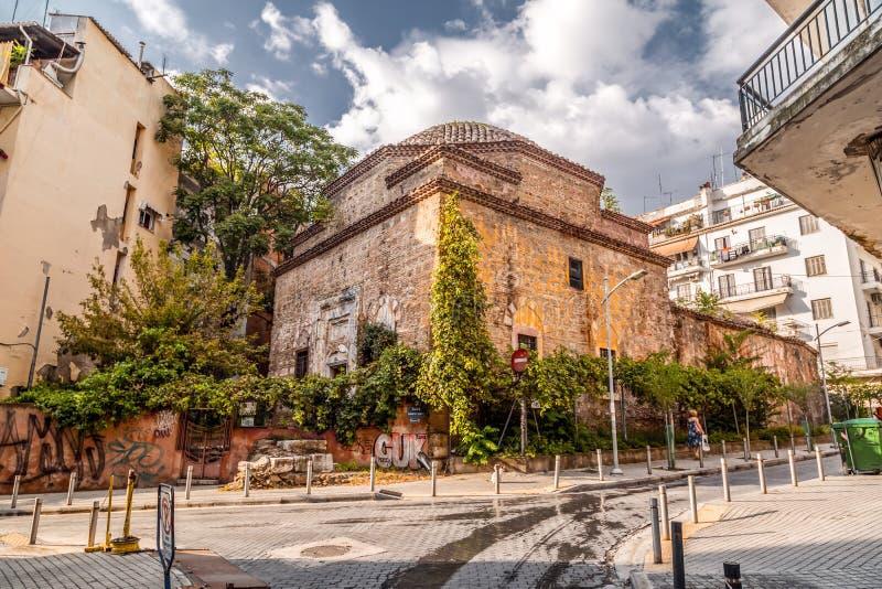 Remains des türkischen Bey Hamam in Thessaloniki lizenzfreie stockfotografie