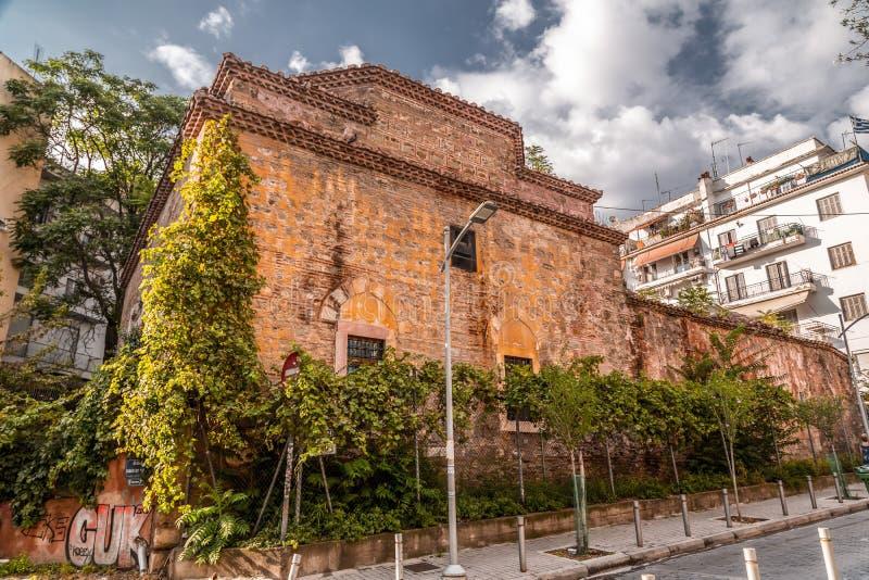 Remains des türkischen Bey Hamam in Thessaloniki stockbilder
