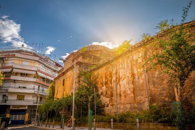 Remains des türkischen Bey Hamam in Thessaloniki stockfotografie