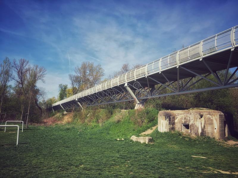 Freedom Cycling Bridge royalty free stock images