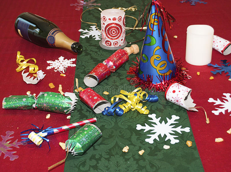 Download Remains Of The Holiday Party Stock Photo - Image: 12328658