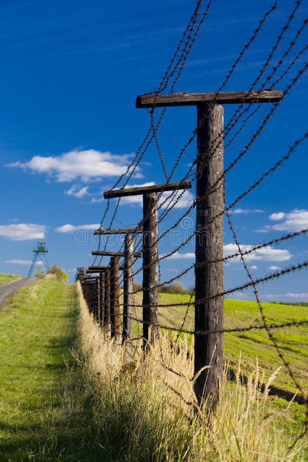 Remains of iron curtain stock photo