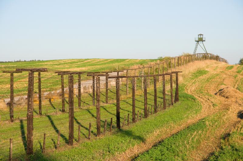 Remains of iron curtain in southern Moravia, Czech Republic. royalty free stock image