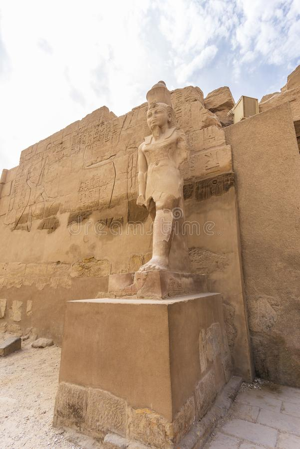 Karnak Temple Complex, Egypt. Remains of the Karnak Temple Complex near Luxor city in Egypt royalty free stock photos