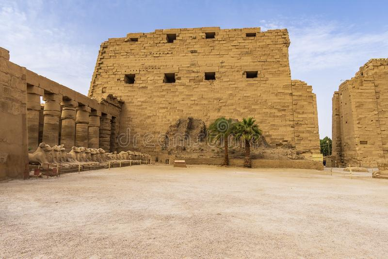 Karnak Temple Complex, Egypt. Remains of the Karnak Temple Complex near Luxor city in Egypt stock photos