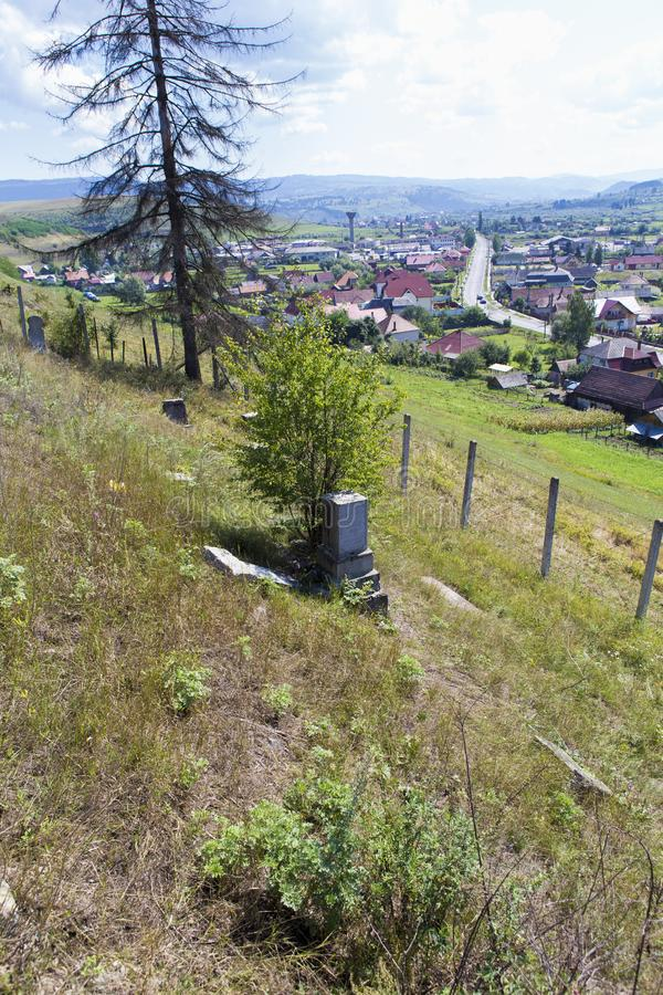 Remains from the old Jews graveyard. From Toplita city in Romania royalty free stock photography