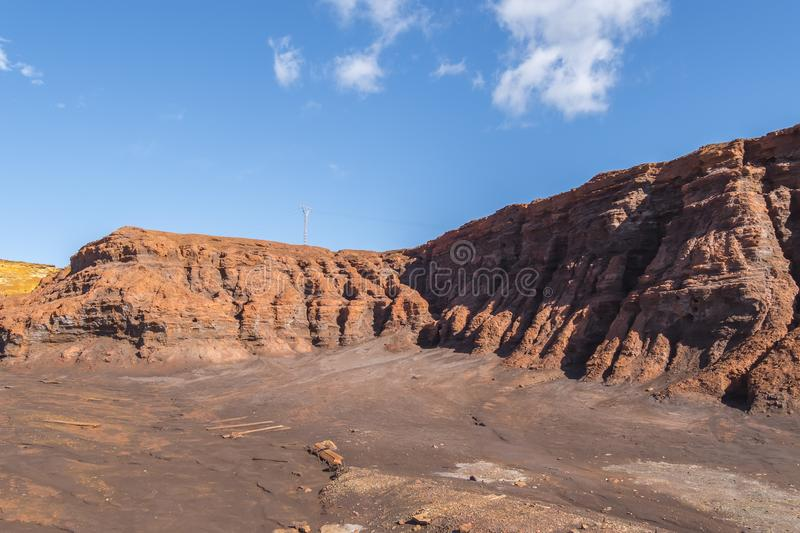 Remains of the old mines of Riotinto in Huelva Spain.  stock image