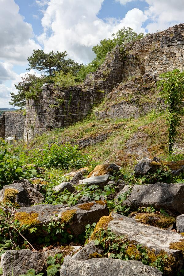 Ruins Poilvache, Yvoir, Dinant, Wallonia, Belgium stock photo