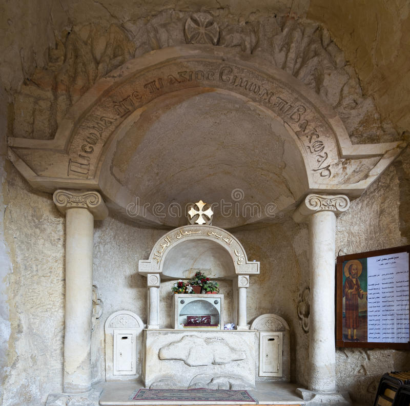 Remains of st. Simon`s body, Saint Samaan The Tanner Monastery royalty free stock image