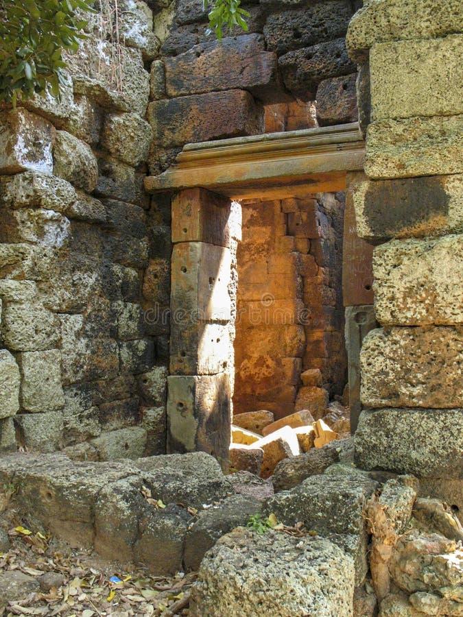 Wat Banan near Battambang, Cambodia. Remains of the Wat Banan Buddhist temple near Battambang, Cambodia royalty free stock photography