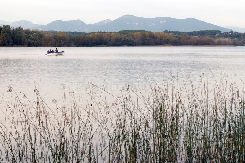 Remando sul lago immagini stock libere da diritti