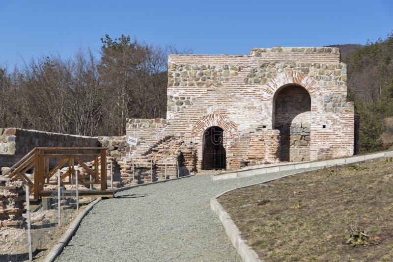Remanente de antiguo romano fortaleza la puerta del Trajan, Sofia Region, Bulgaria foto de archivo