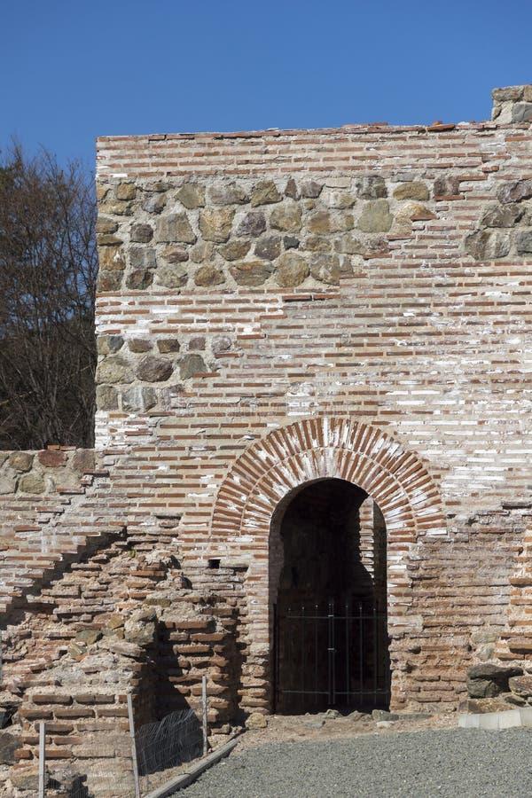Remanente de antiguo romano fortaleza la puerta del Trajan, Sofia Region, Bulgaria fotografía de archivo