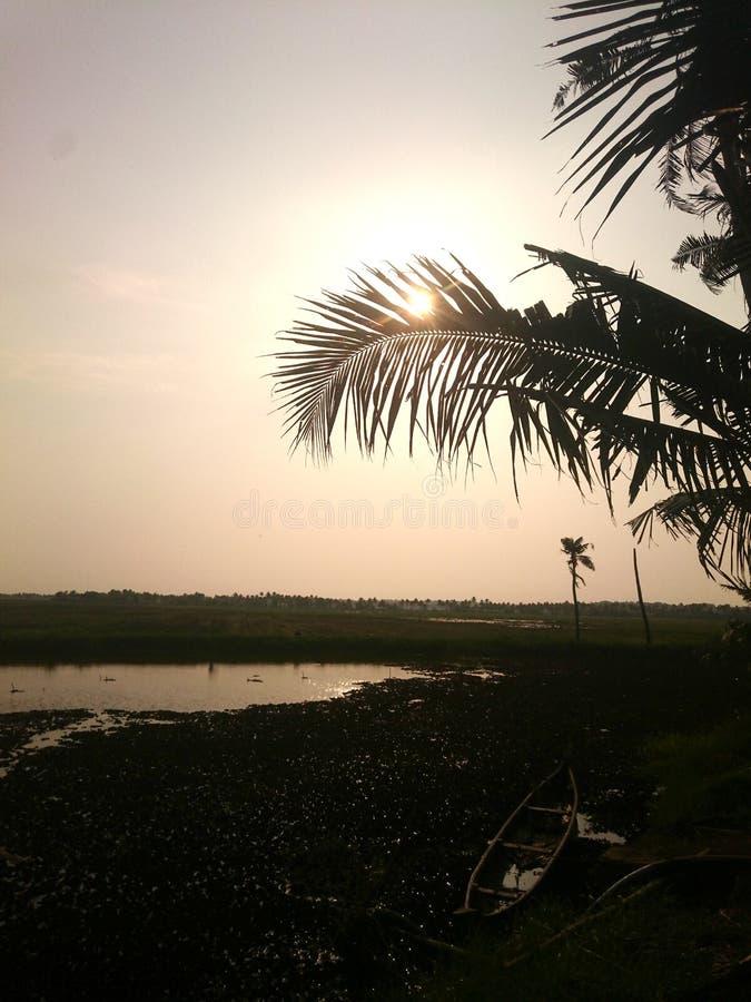 Remansos de Kerala imagen de archivo libre de regalías