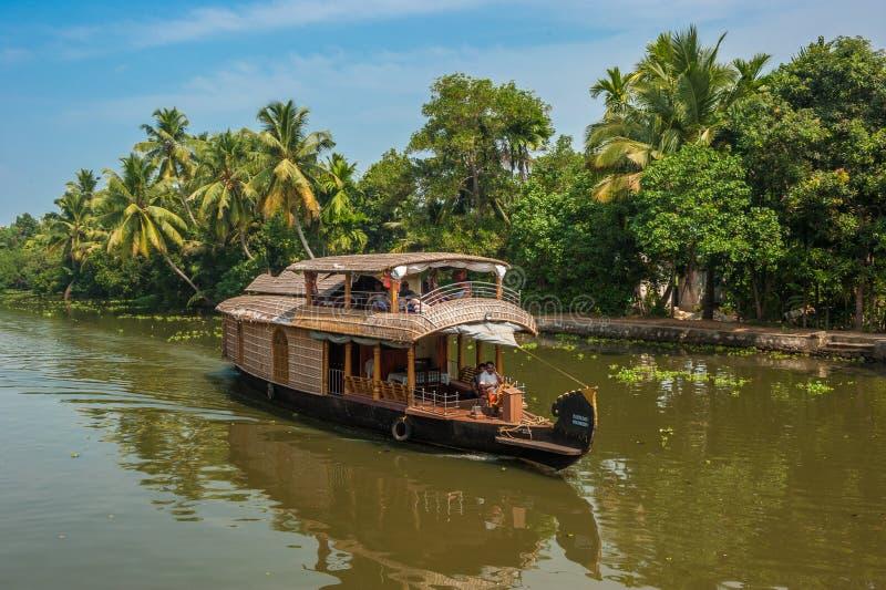 Remansos de Kerala, la India fotos de archivo