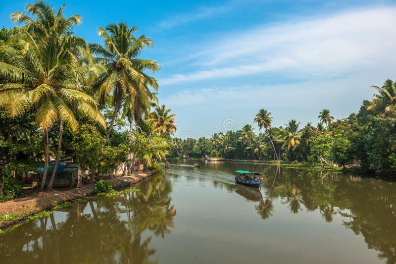 Remansos de Kerala, la India imagen de archivo