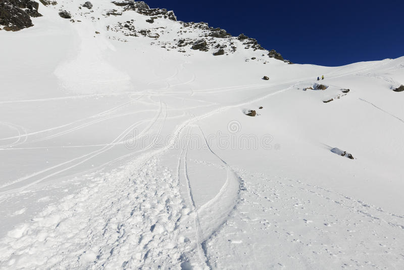 remarkables滑雪区域 库存照片