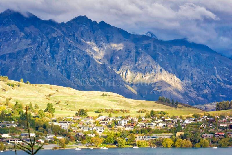 Remarkables - Queenstown, Nieuw Zeeland stock foto's