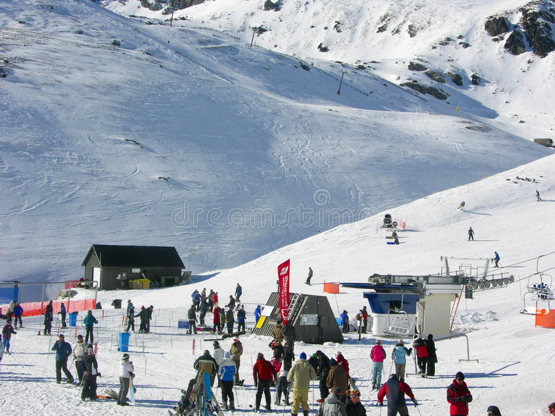The Remarkables Winter Fun royalty free stock photo