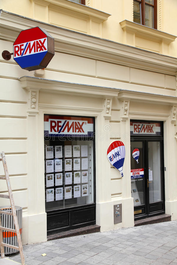 Remax - real estate agent stock image