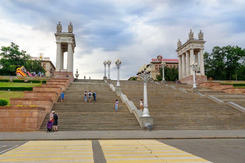 Remblai central à Volgograd images stock