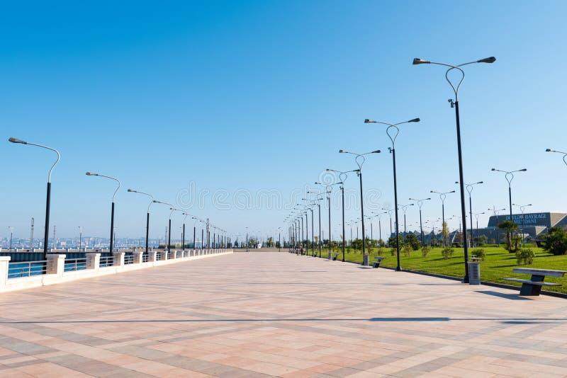 Remblai de baie de Bakou image libre de droits