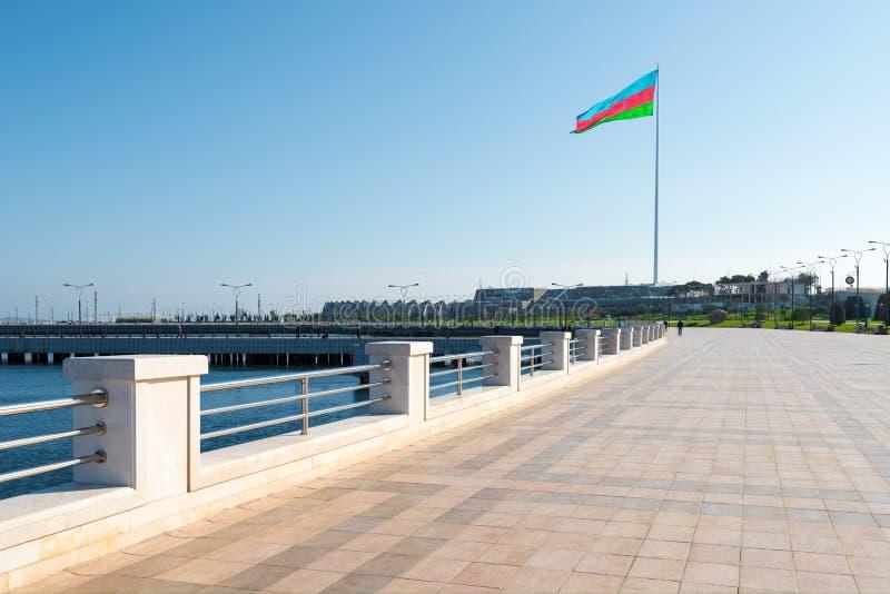 Remblai de baie de Bakou photo stock