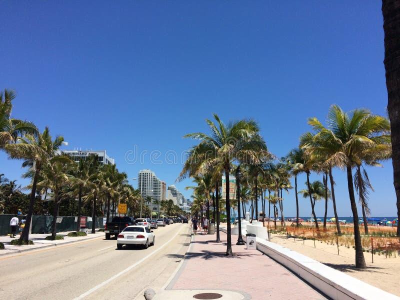 Remblai de Fort Lauderdale, la Floride photo stock