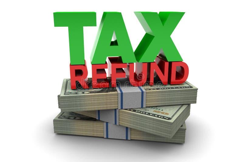 Remboursement d'impôt fiscal illustration stock