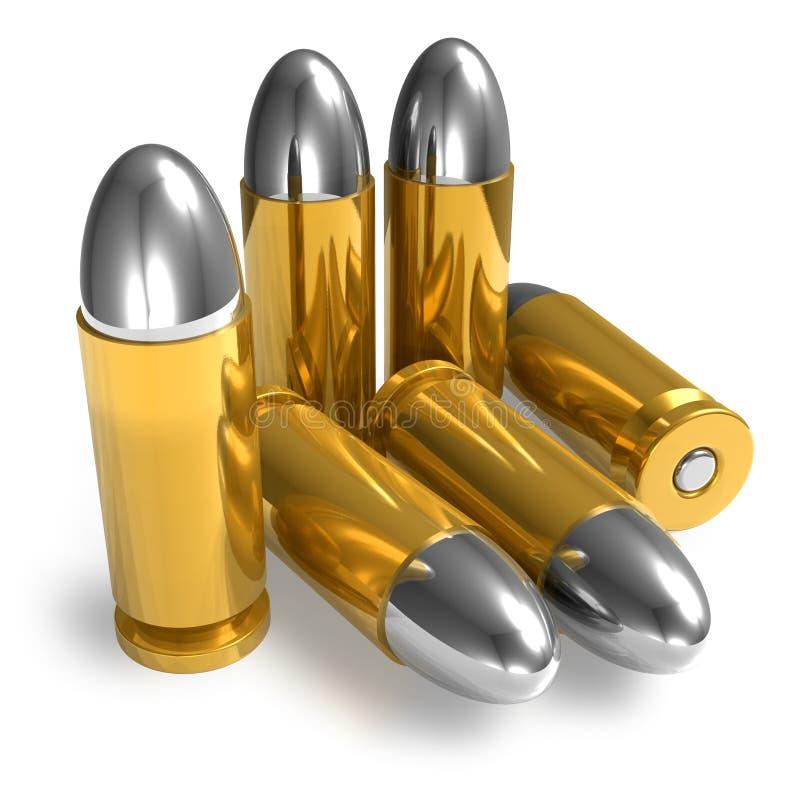 Remboursements in fine de pistolet illustration stock