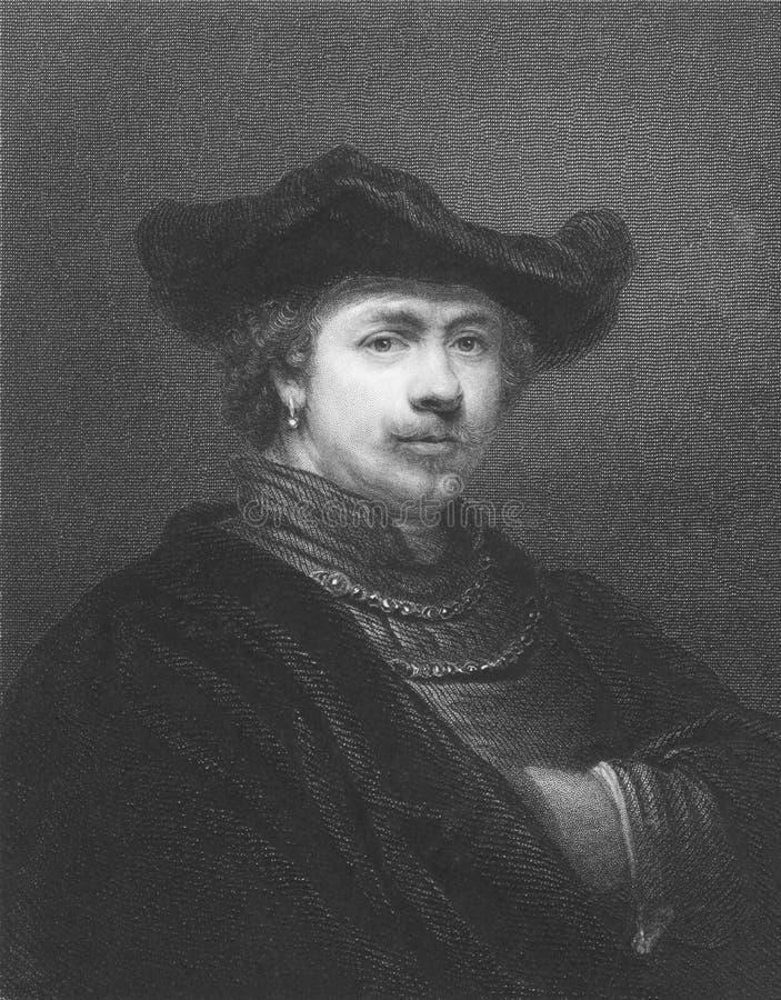rembrandt royaltyfri bild