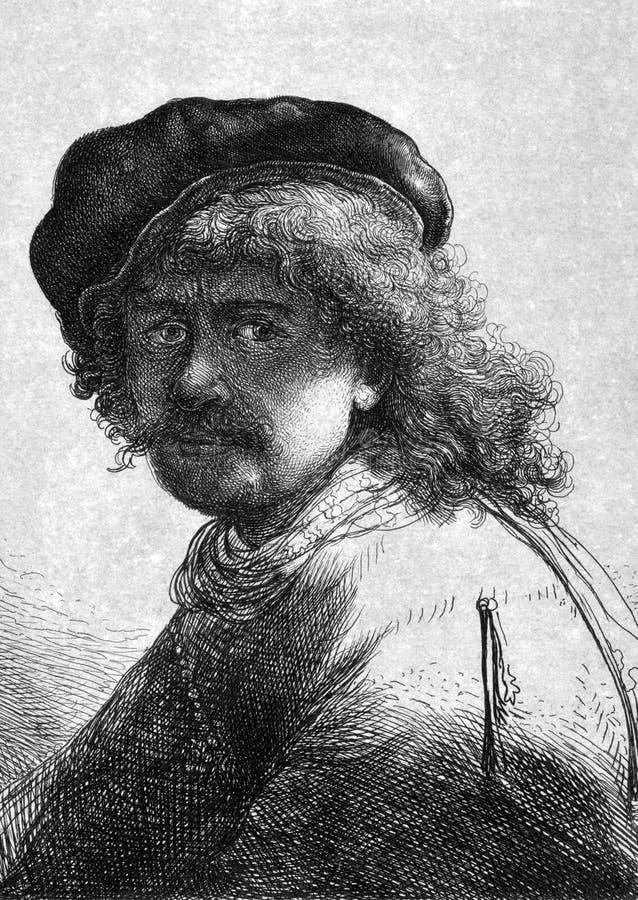 Rembrandt ilustración del vector