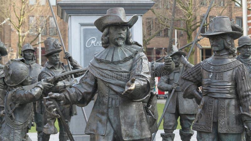 Rembrandt amsterdam royaltyfria foton
