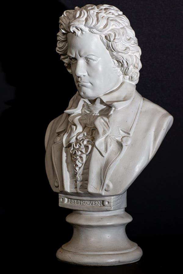 Rembrandt belysning på Ludwig Van Beethoven arkivfoton