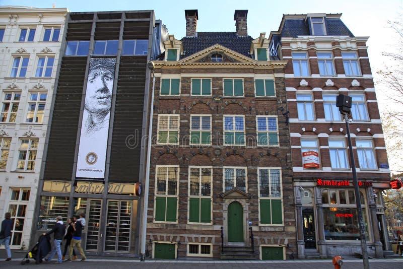 Rembrandt husmuseum i Amsterdam, Nederländerna royaltyfri fotografi