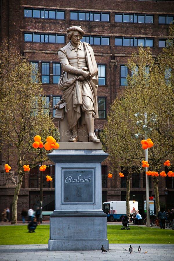 rembrandt staty royaltyfri bild