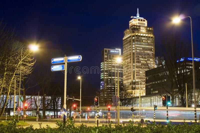 Rembrandt tower Amsterdam Netherlands royalty free stock photos