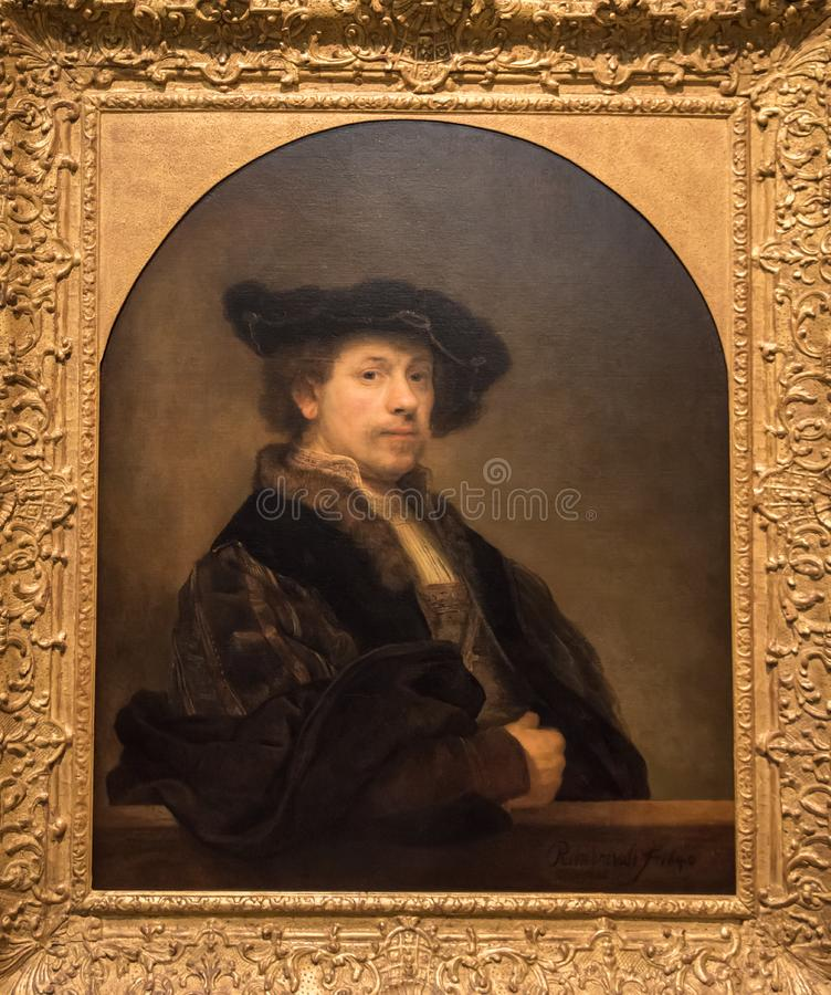 Rembrandt Van Rijn självstående royaltyfri fotografi