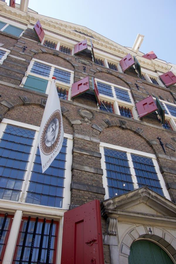 Rembrandts Haus in Amsterdam stockfotografie