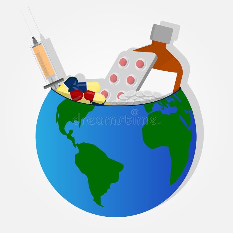 Remedies op aarde royalty-vrije illustratie
